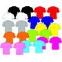 5 Camisetas Lisas Varias Cores E Tamanhos Pv Malhas Fria