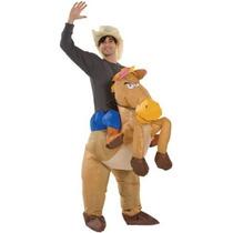De Halloween Inflable Vaquero Outfit - Caballo Disfraz - Sta