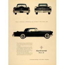 Lienzo Tela Anuncio Automovil Ford Continental 1955 80 X 50
