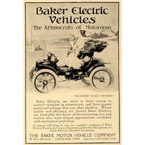 Lienzo Tela Cuadro Anuncio Auto Baker Electric 74 X 50 Cm