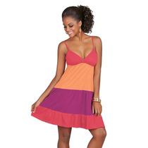 Vestido Colorido Em Malha De Algodão - 33634