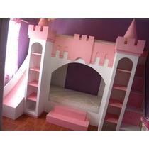 Cama Castillo Infantil Escalera Cajonera Tobogan Amoblate