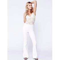 Pantalon Oxford Mujer Tiro Alto Elastizado Gabardina Jeans