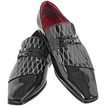 Sapato Masculino Social Verniz Bico Fino Stilo Italiano 498