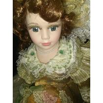 Muñeca De Porcelana. Coleccionables.