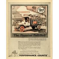 Lienzo Tela Poster Anuncio Camiones Mack Trucks 70 X 50 Cm