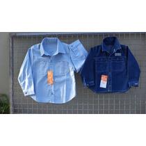 Camisas Para Niños En Jean Y Algodon -talles: 2 - 3 - 4
