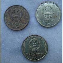 2993 - China Moeda 3 Moedas 5 Wu Jiao 1999, 1992, 1999, 20mm