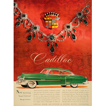 Lienzo Tela Publicidad Anuncio Auto Cadillac 1950 70 X 50 Cm