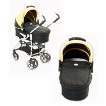 Carrinho De Bebê Com Moisés Amarelo