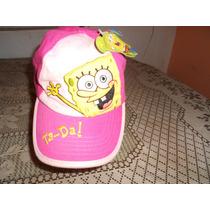 Nickelodeon***bob Esponja Gorra De Niña***nueva***