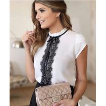 Blusa Seda+renda Febre No Instagram Das Blogueiras !!!