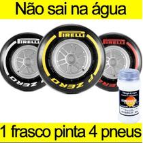Tinta Branca Para Pintar Letras Faixa Pneus Carro Moto 100ml