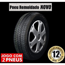 2x Pneu 185/65-15 Sandero Logan Onix Prisma Etios C4 Remold