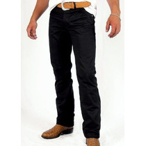 Calça Jeans Sarja Preta Black Slin Fit Lycra Stretch 34 58