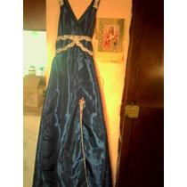 Vestido Largo De Noche En Azul