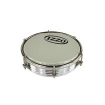 Tamborim Izzo 6 Aluminio Anodizado Prata Com Pele Leitosa