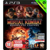 Mortal Kombat Komplete Edition - Ps3 Psn - Português