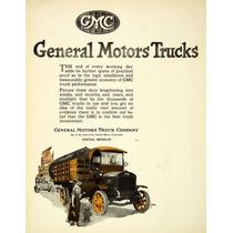 Lienzo En Tela Anuncio Camioneta Gmc Trucks 1921 70 X 50 Cm