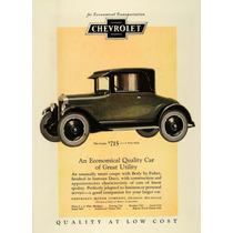 Lienzo Tela Poster Anuncio Automóvil Chevrolet 1925 70x50 Cm