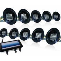 Pacote C/ 4 Kits Led Sequencial De 10 Canhões = 40 Canhões