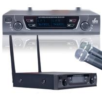 Fg Microfone Uhf Sem Fio Duplo Amb2h Beta58 Até 90 Metros