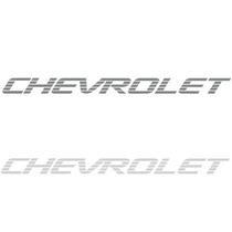 Faixa Adesivo Chevrolet D20 Da Tampa Traseira Grafite Prata