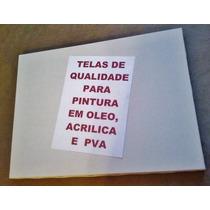 Quadro Tela Branca P/ Pintar Tam.30x40cm / Pacote C/ 4 Und.