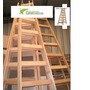 Escalera Pintor En Madera 8 Escalones Reforzada