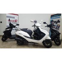 Jm-motors Honda Elite 125 Blanca Año 2016 Scooter Entrega Ya