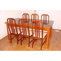 Sala De Jantar: Mesa Com Seis Cadeiras