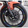 Auto Adhesivos Reflectantes Aro Llantas Moto Auto 2 Sets