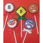Tampa P/ Cupcake Enfeite Pirulito Chocolate/bolacha Carros