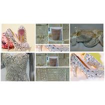 Aplicaciones Y Pedrería De Cristal Para Ropa, Calzado, Etc