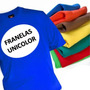 Franelas Unicolor 100%algodon