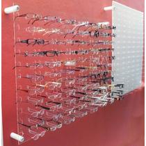 Painel Expositor 670x1000 P/ 66 Óculos Acrílico Transparente