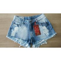 Short Jeans Feminino Patoge Rasgadinho 003