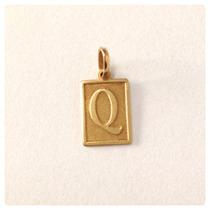 Pingente Letra Inicial Do Nome Ouro Amarelo 18k Masculino