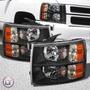 Opticos Negros Chevrolet Silverado 2007 - 2013