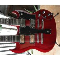 Guitarra Braço Duplo Sg Gibson Customizada Chinesa