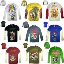 Camiseta Ed Hardy Manga Longa + De 50 Modelos - No Brasil