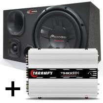 Caixa Trio Pioneer Sub 400w + Corneta D250x + Amplificador
