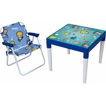 Conjunto Infantil Mesa + Cadeira Atlantis Maremoto