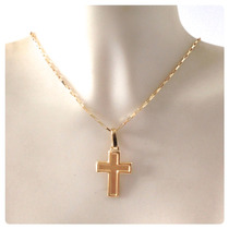 Kgshop Crucifixo Pingente Cruz Masculino Em Ouro 18k Maciço