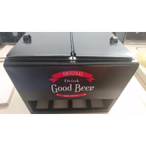 Hielera Miniatura No Cocacola, Good Beer Drink De Lamina