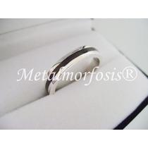 Alianza/anillo Plata 925 Y Ebano -incluye Grabado-