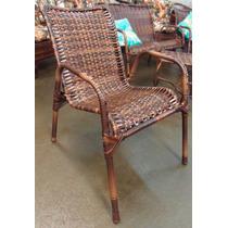 2 Cadeiras + 1 Mesinha De Junco Ratan
