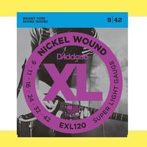 Encordado Cuerdas P/ Guitarra Eléctrica D´addario - Exl120