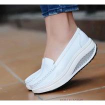 Zapatos Ortopédicos De Cuero Color Blanco
