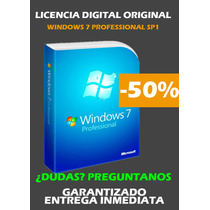 Windows 7 Professional 100% Original Entrega Inmediata